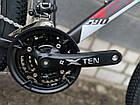 """Велосипед BATTLE МТВ 27,5-17"""" SUBDURAL, графитовый с красным, фото 4"""