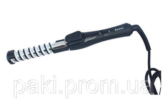 Плойка спиральная для волос Kemei 1377