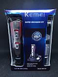 Машинка для стрижки и подравнивания бороды Kemei km-510, фото 4