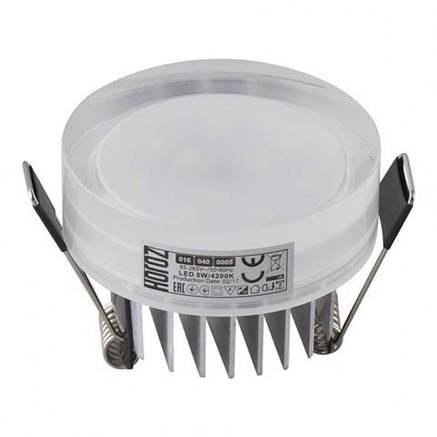 Встраиваемый led светильник круг 7W Valeria-7 Horoz Electric, фото 2