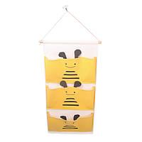 """Органайзер подвесной Handy Home """"Пчелка"""", 3 отделения, 30/34х64 см (CEW-07)"""