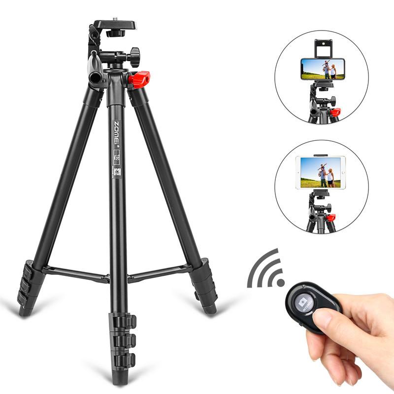 Штатив T80 фирмы ZOMEI для фотоаппаратов, камер, телефонов с креплением и пультом для телефона