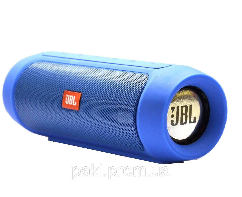 Портативная bluetooth колонка в стиле JBL Charge 2+ (Cиняя)
