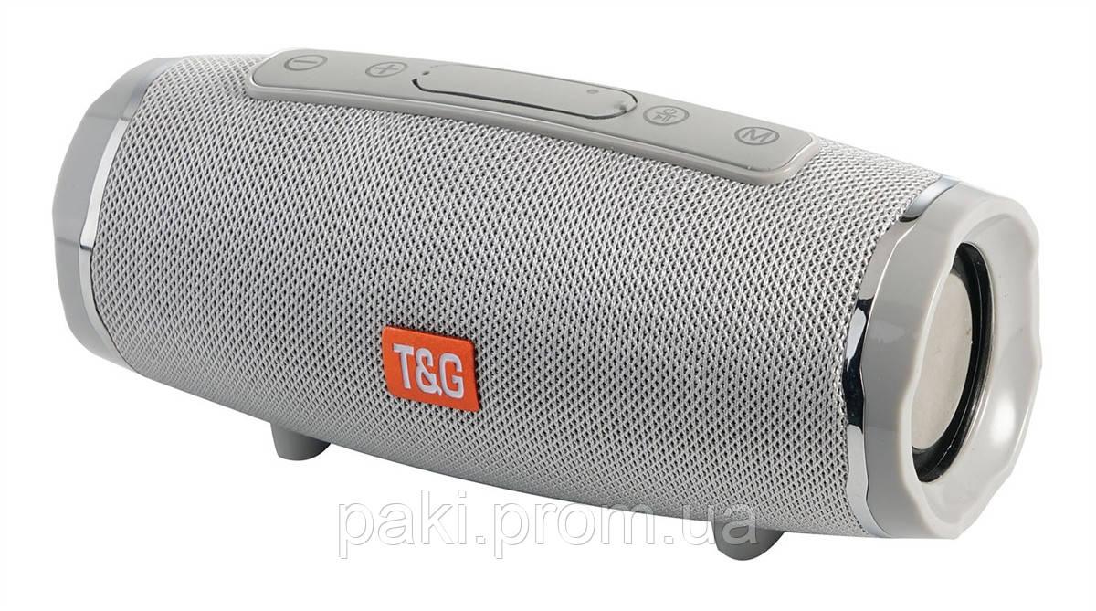 Портативная bluetooth колонка T&G TG-145 (Серая)
