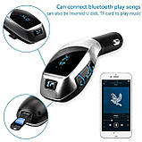 FM Модулятор Car Bluetooth Charger X5 , фото 3