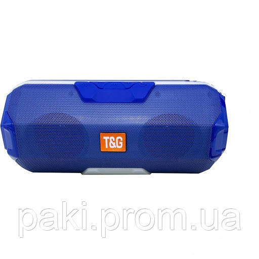 Портативная bluetooth колонка T&G TG-143 (Синяя)