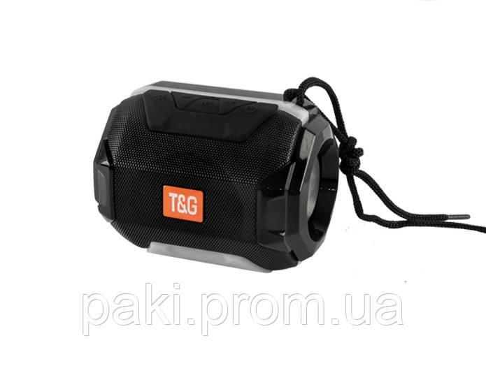 Портативная bluetooth колонка T&G TG-162 с подсветкой (Черный)