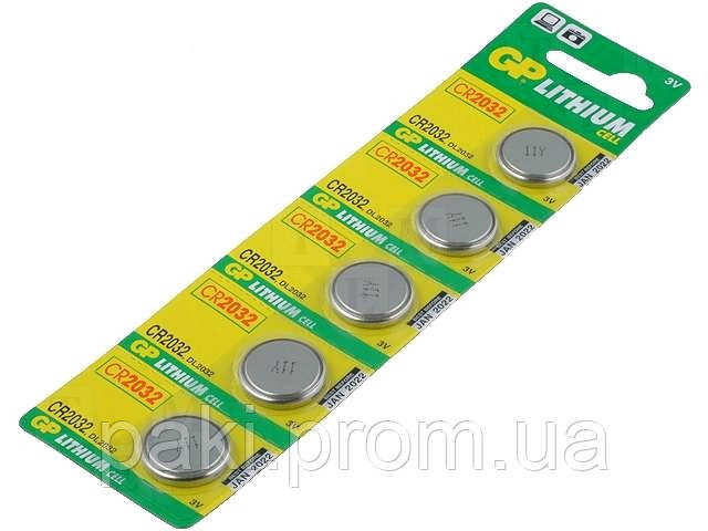 Батарейки GP CR2032 Lithium