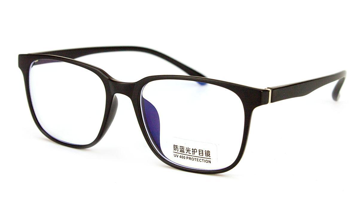 Очки компьютерные Blue blocker, очки для компьютера, очки для работы за компьютером, чёрный пластик, Bluray