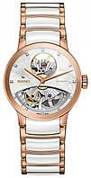 Часы наручные женские RADO CENTRIX AUTOMATIC DIAMONDS OPEN HEART 01.734.0248.3.090/R30248902, сталь - керамика