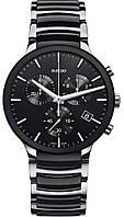 Часы-хронограф наручные мужские RADO CENTRIX CHRONOGRAPH 01.312.0130.3.015/R30130152 кварцевые, керамика/сталь