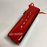 Беcпроводная портативная колонка T&G TG-174 с часами, радио и термометром (Красная), фото 2