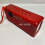 Беcпроводная портативная колонка T&G TG-174 с часами, радио и термометром (Красная), фото 3