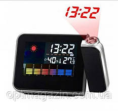 Часы c проектором времени Color Screen 8190 календарь