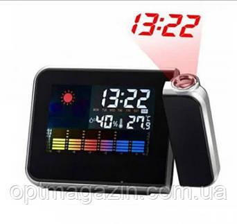 Часы c проектором времени Color Screen 8190 календарь, фото 2