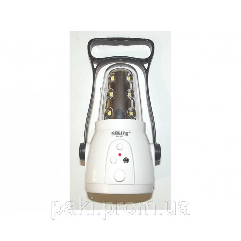 Фонарь-лампа кемпинговая 7667 + FM радио.
