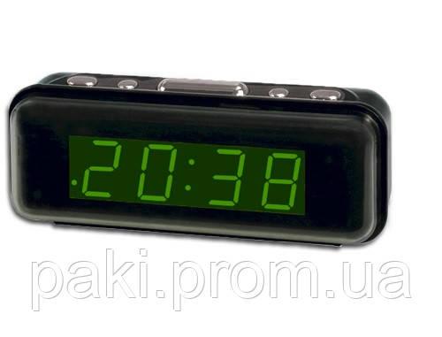 Часы сетевые 738-2 (зеленые)