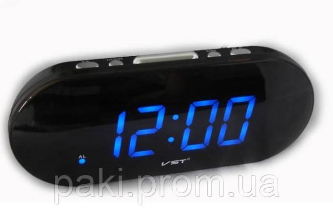 Часы сетевые 717-5 (синие)