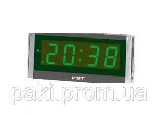 Часы сетевые 731-2 (зеленые)