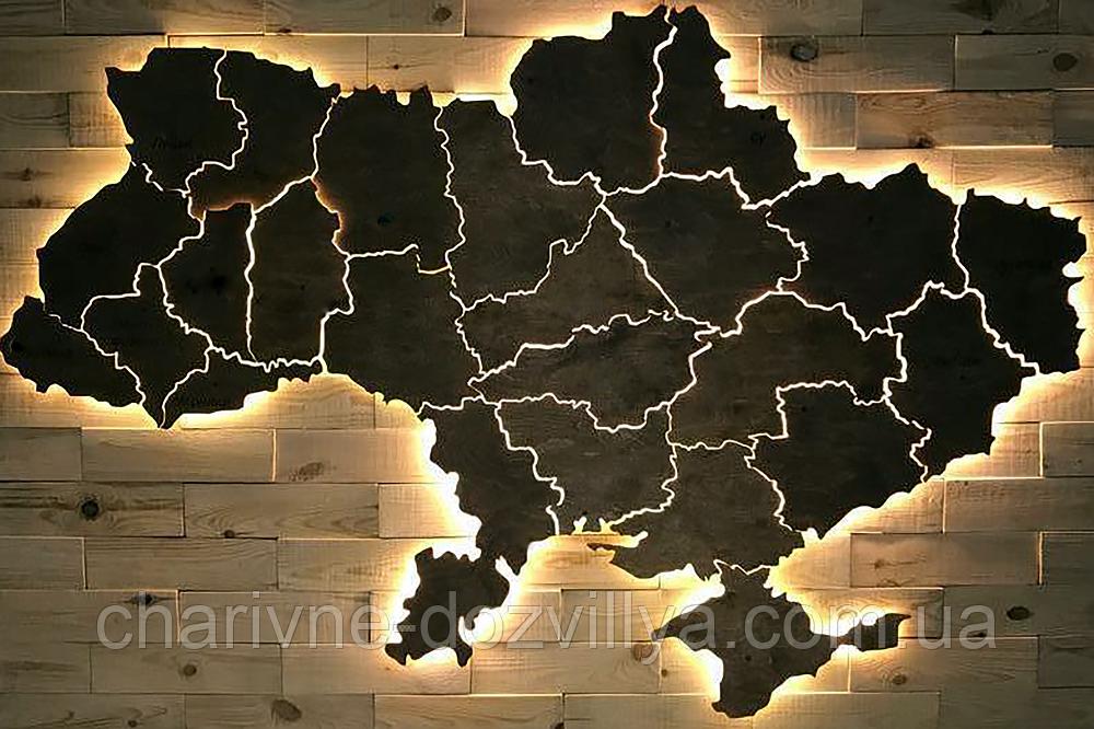 """Набор алмазной вышивки (мозаики) """"Карта Украины"""""""