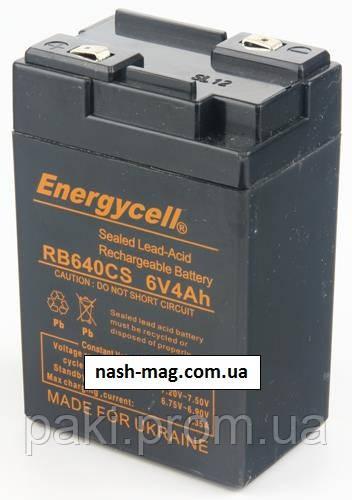 Аккумулятор Energycell RB640CS 6V 4Ah (A) клеммы