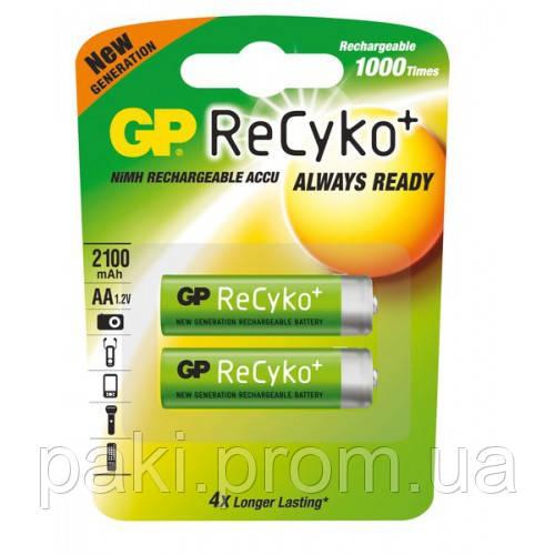 Аккумулятор NiMH, GP AA 2100 mAh (210AAHCB-UC2) ReCyko, 1.2V