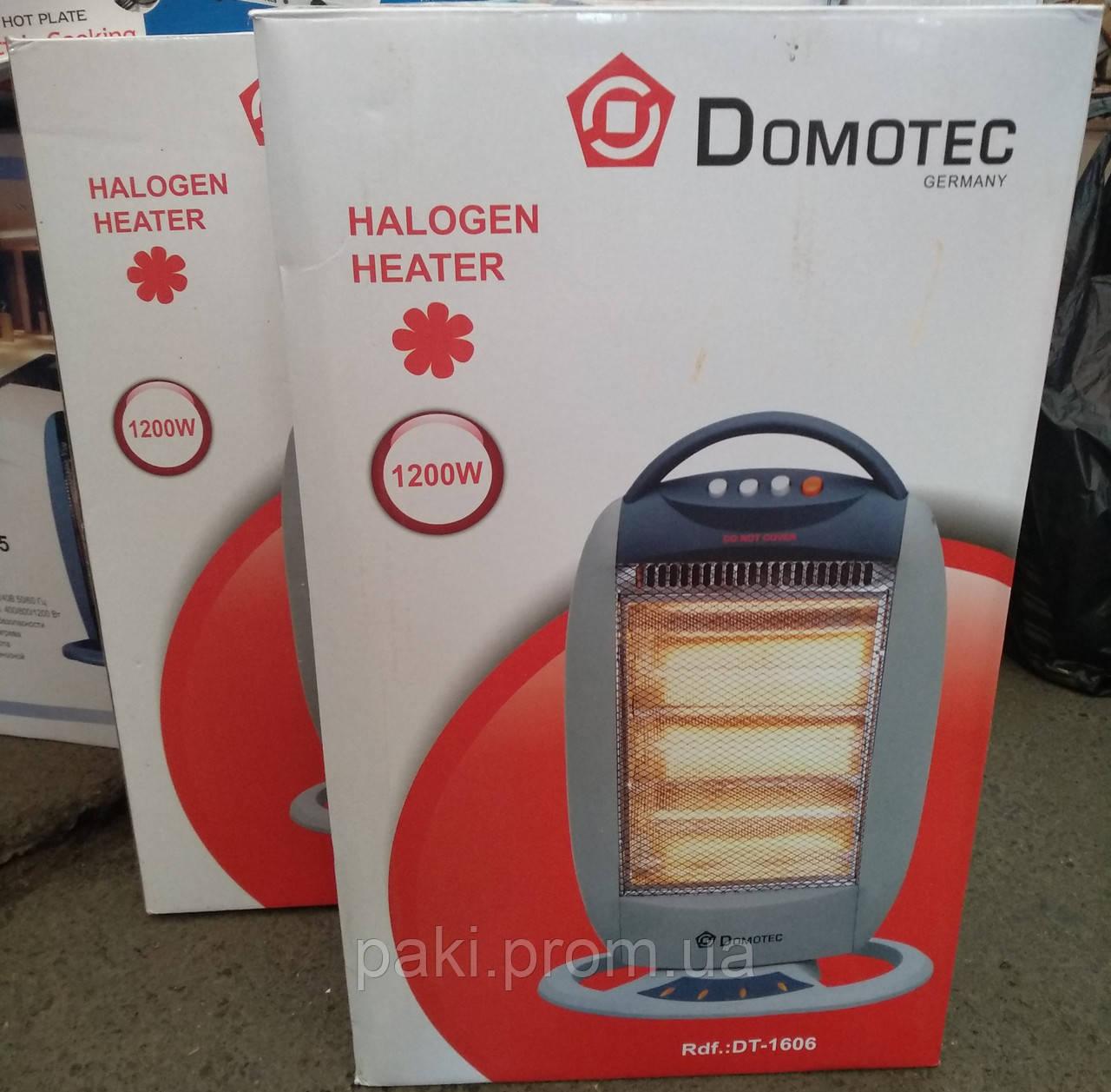 Тепловентилятор (обогреватель) инфракрасный галогенный Domotec DT-1606 1200W