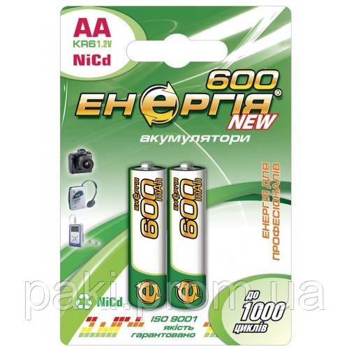 Аккумулятор Энергия Ni-Cd AA (R6) 600 mAh, 1.2V