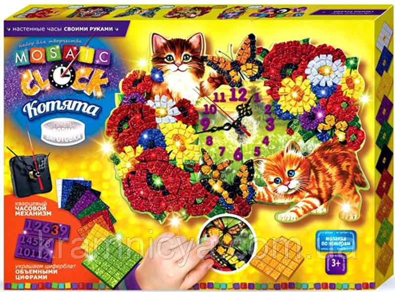 Мозаичные часы Котята (Сделай Сам), ТМ Danko Toys
