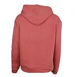 Худи однотонные с карманом для девушек хб хорошего качества худи с капюшоном розовые, фото 2