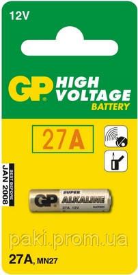 Батарейка GP 27A-U5 щелочная А27, MN27 для ПУ