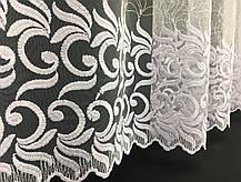 """Готовый тюль """"Виноград Белый""""  сетка-вышивка, 3 метра, фото 2"""