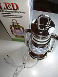 Диско лампа Фонарь LED светодиодная, вращающаяся, фото 7