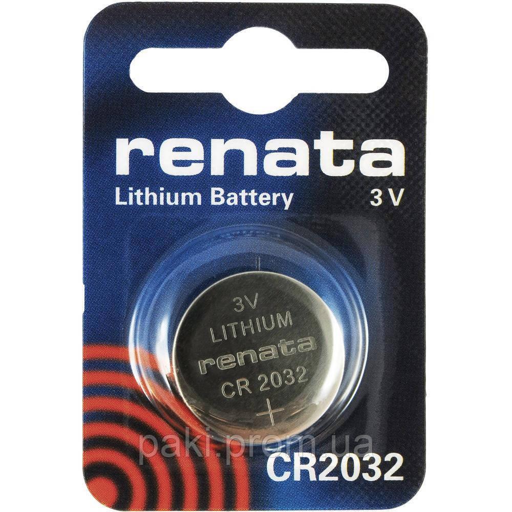 Батарейка часовая Renata CR2032 Lithium Battery