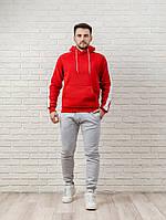 Мужской спортивный костюм красно-серый