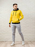 Мужской спортивный костюм желто-серый