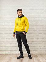 Мужской спортивный костюм - желто-черный