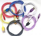 Кабель USB - металл сетка X42, фото 2