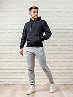 Мужской спортивный костюм - темно-серый верх и серый низ, фото 1