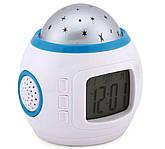 Нічник-проектор з годинником 1038, фото 2