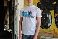 Белая футболка Ripndip кот со скейтом, фото 1