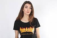 Чорна футболка - Вогненний трешер, фото 1