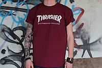 Бордова футболка Thrasher, фото 1