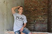 Сіра футболка Play CDG