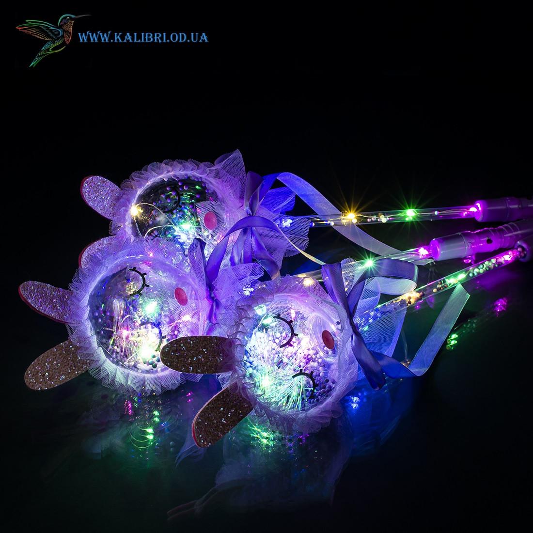 Светящиеся палочки Зайцы светяшки фиолетовые