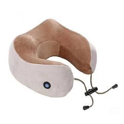 Массажная подушка для шеи с памятью U-Shaped Upgrade Vibration Pillow NJ-20