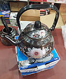 Чайник эмалированный FRICO FRU-787 2.0 л (подвижная ручка), фото 4