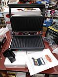 Прижимной контактный гриль WimpeX WX1055 (барбекю-электрогриль) 1000W, фото 2