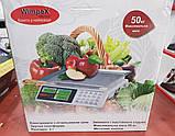 Весы торговые WimpeX WX5003 до 50 кг электронные (счетчик цены, двойное табло), фото 10