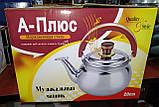 Музыкальный чайник A-PLUS (9029) 2.5 л, 20 см., фото 3